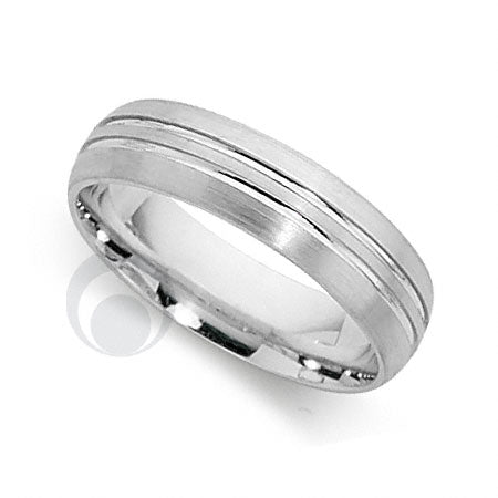 Platinum Patterned Wedding Ring - PRCCT5605-3GP