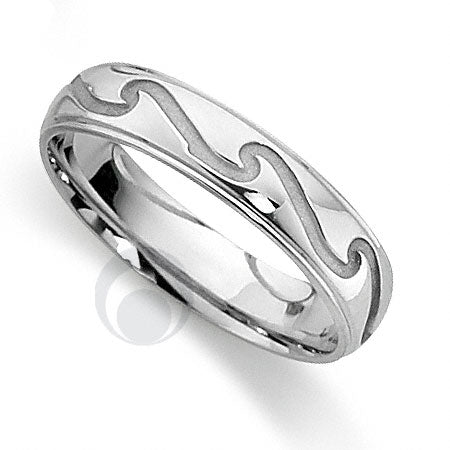 Platinum Patterned Wedding Ring - PRCCTG811-4GP
