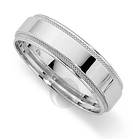 Platinum Patterned Wedding Ring - PRCEF5628-3GP