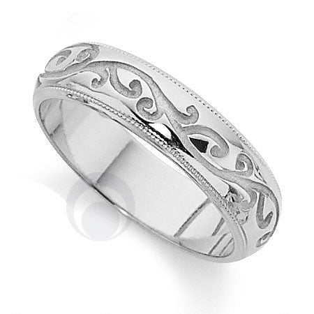 Platinum Patterned Wedding Ring - PRCCTG850-4GP