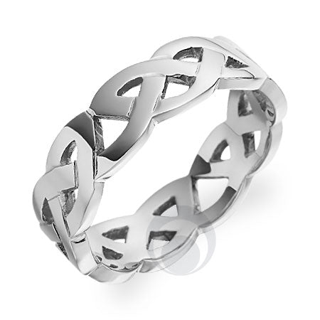 Platinum Celtic Wedding Ring - PRCCELTIC13PIP