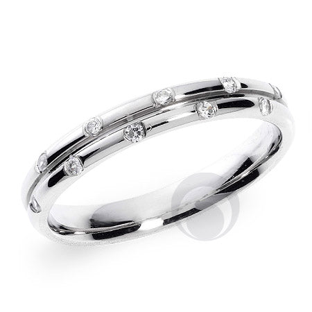 Diamond Platinum Wedding Ring PRCDOUBLE