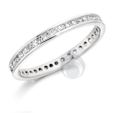 Diamond Platinum Wedding Ring - PRC001C - Size J - PRC001C
