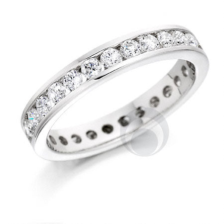 Diamond Platinum Wedding Ring - PRC006-100