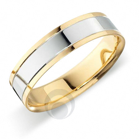 Platinum Wedding Ring Two Colour - RFT600-4IP