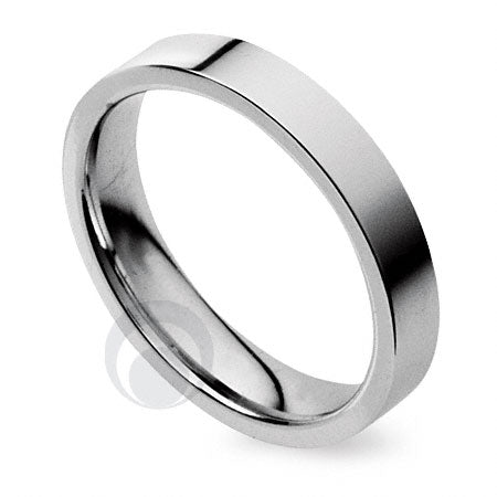 2.5mm Plain Platinum Flat Court Wedding Ring