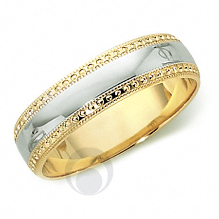 Platinum  Wedding Ring Two Colour - T30-4IP