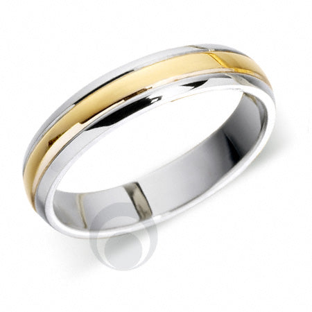 Platinum Wedding Ring Two Colour - T49R-4IP