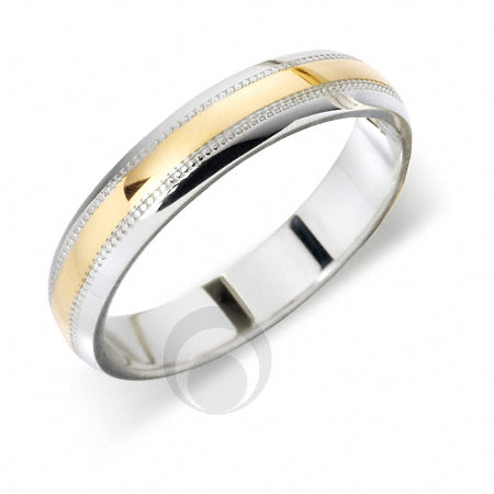 Platinum Wedding Ring Two Colour - T66R-4IP