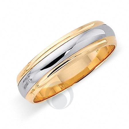 Platinum Two Colour Wedding Ring - T82-4GP