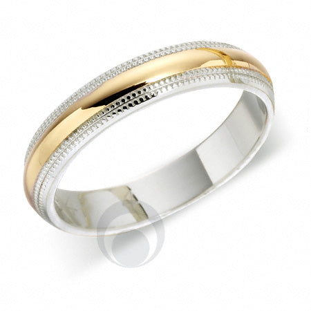 Platinum Wedding Ring Two Colour - T84R-4IP