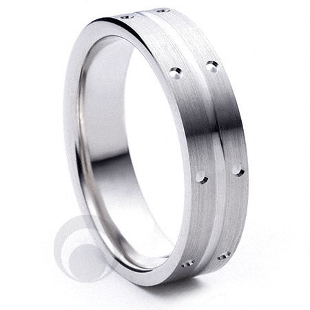 Platinum Wedding Ring Amitié - PBA08F-3IP