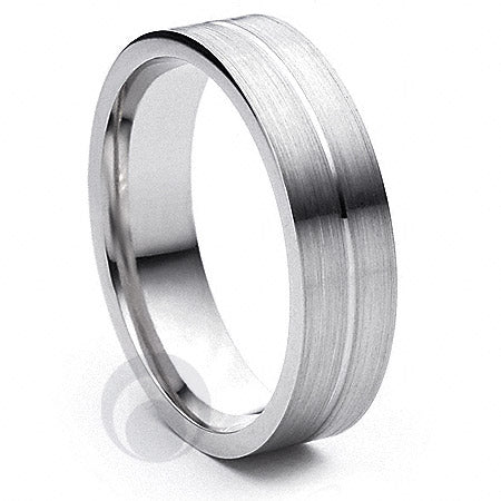 Platinum Patterned Wedding Ring Amore