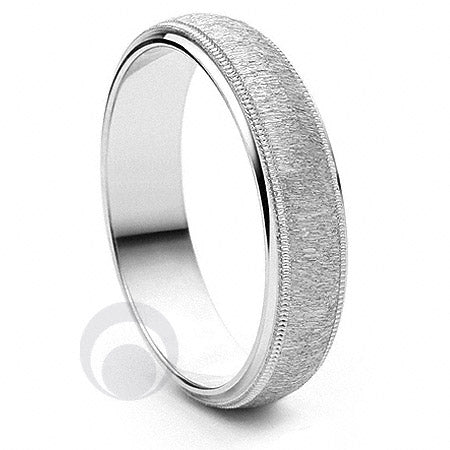Platinum Wedding Ring Attrarre - PBA03-4IP