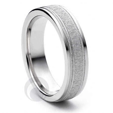 Platinum Wedding Ring Deseo - PBA4-5IP