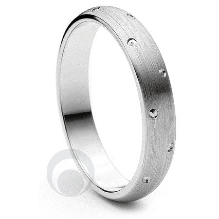 Platinum Wedding Ring Entrelacè