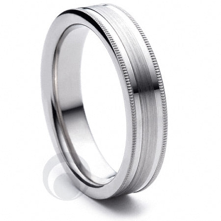 Platinum Wedding Ring Espacio - PBA05F-4IP