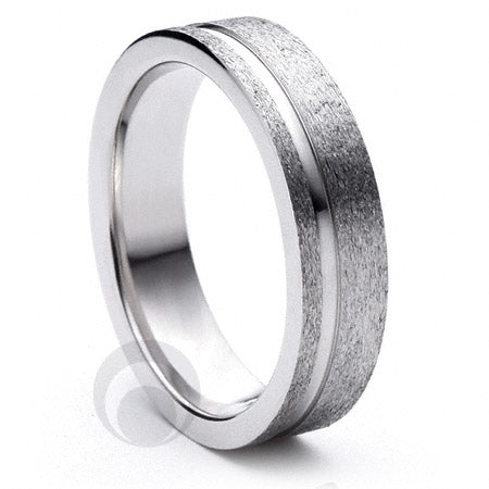 Platinum Wedding Ring Eterno - PBA09F-4IP