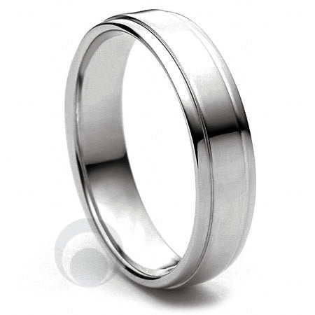 Platinum Wedding Ring Insieme - PBA13-4IP