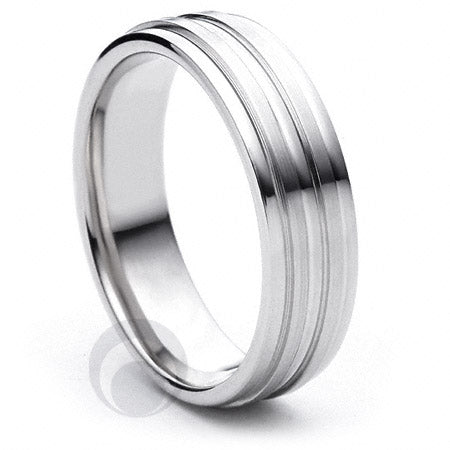 Platinum Wedding Ring Miele - PBA06FIP