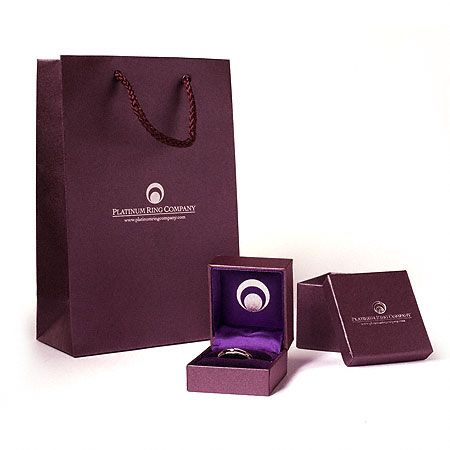 Diamond Platinum Engagement Ring PRC01DC box