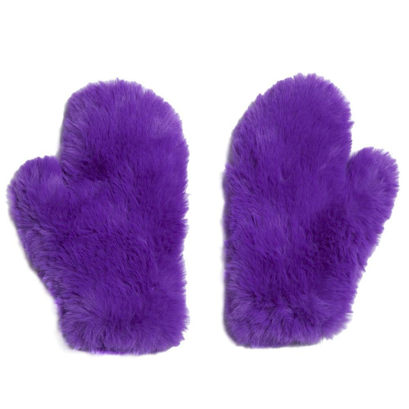 Signature Knitted Faux Fur Mitten