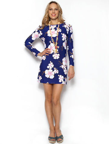 Dress Courtney's Flower Navy