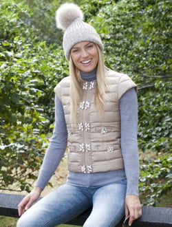 Signature Embellished Cap Sleeve Vest