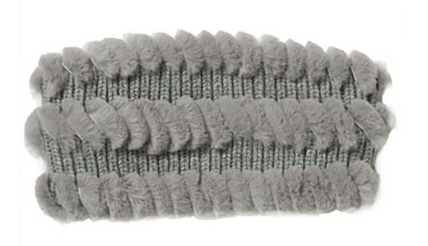 Knit Wool Headband with Rex Whipstich
