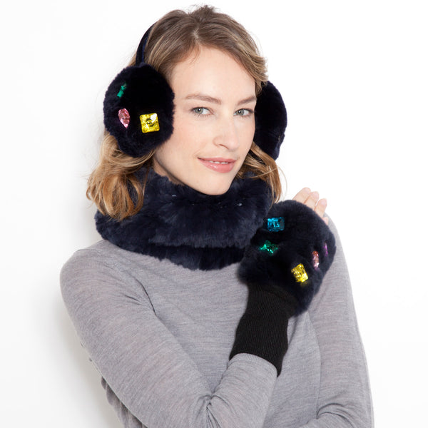 Candy Stone Fur Earmuffs