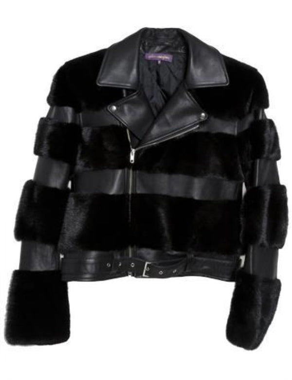 Moto Mink Leather Jacket