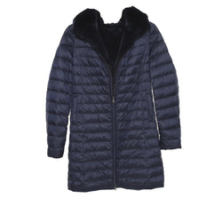 Stroller Reversible Down Hooded Rex Rabbit Coat