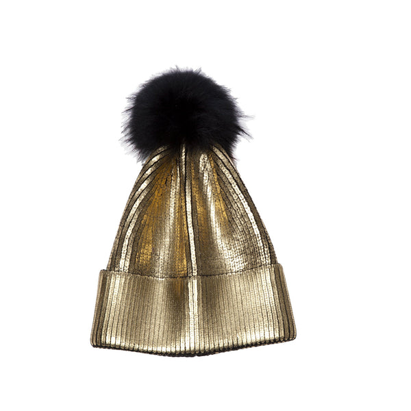 Metallic Painted Hat(Black, Silver or Gold)