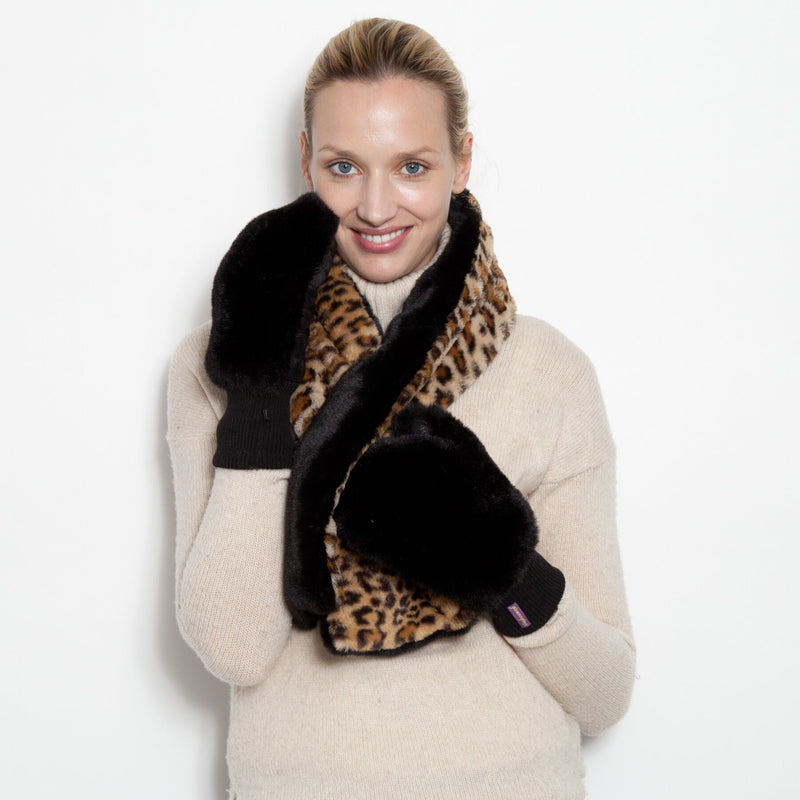 Two Tone Faux - Pull Through Scarf