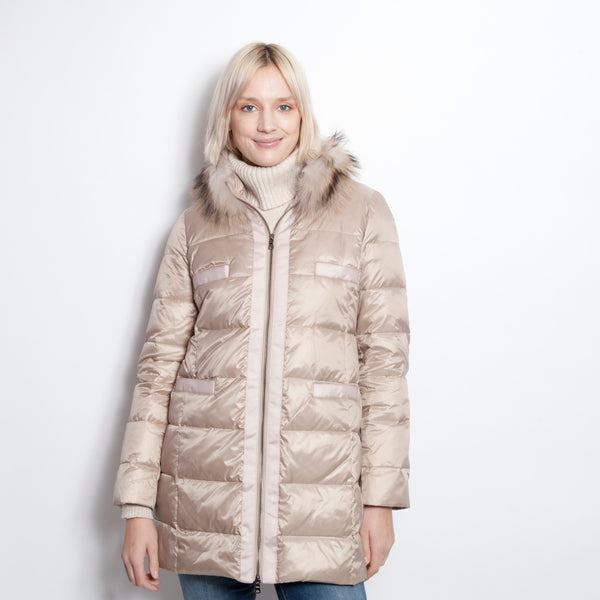 Long Down Puffer with Fox Collar