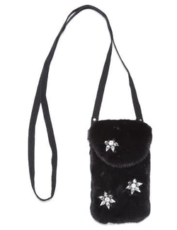 Star Fur Black Mink Crossbody