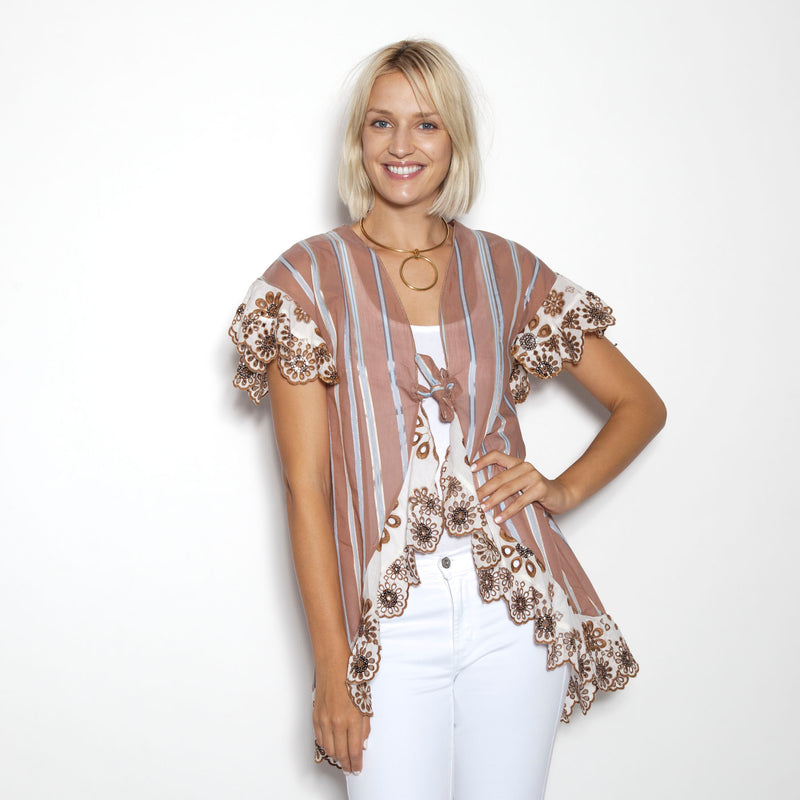 Balos Stripe Coco Tie Front Cover -UP