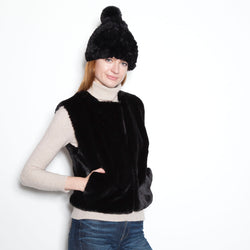 Faux Fur Signature Pom Pom Hat