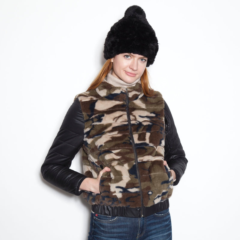 Signature Down  Sleeve Jacket with Removable Sleeve (Camo)