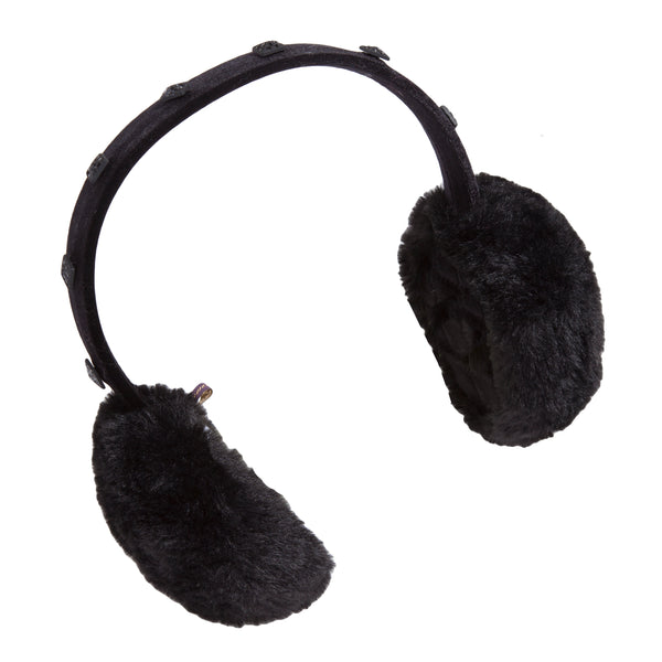 Mink Earmuff with Crystal Studded Headband
