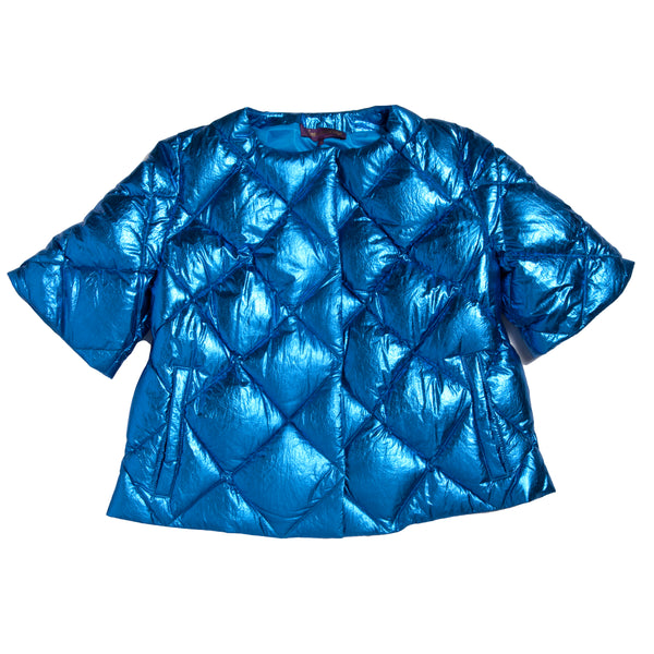 Down Bolero Metallic Blue