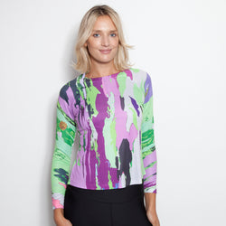 GLAMOURPUSS X GOSSAMER ZEN UV ACTIVE SHIRT TREE BARD LILY GREEN