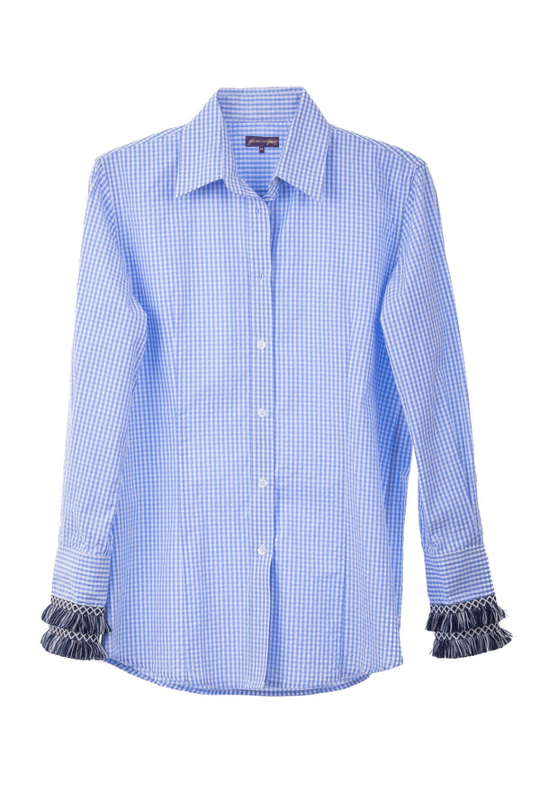 Beachcomber Shirt Seersucker Blue