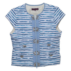 Gauguin Stripe Embellished Vest