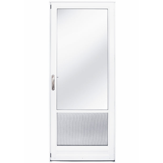 3/4 Self Storing Aluminum Storm Door - Right Hinge