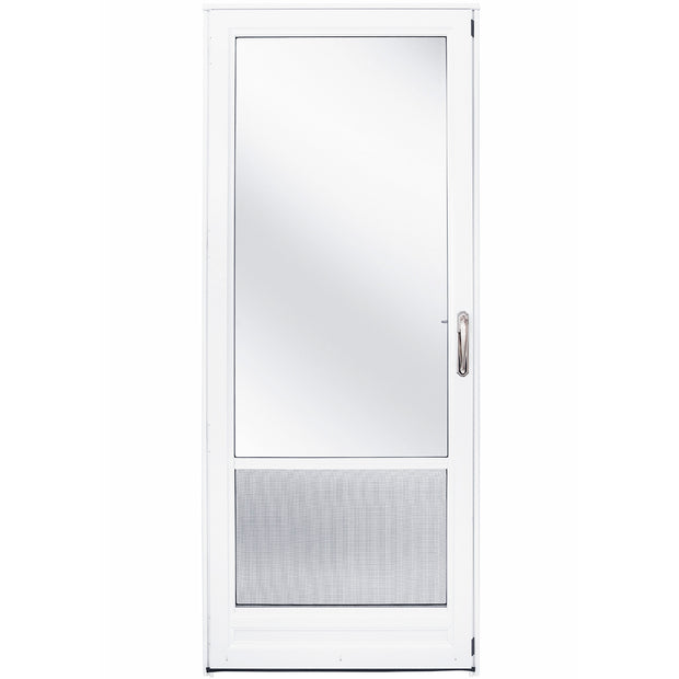 3/4 Self Storing Aluminum Storm Door - Left Hinge