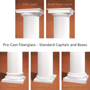 Fibreglass Column - Pro-cast Round Smooth Tapered