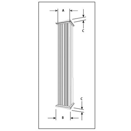 Aluminum Column - Square Fluted