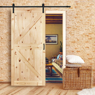 Stain Grade Knotty Pine K-Pattern Barn Door