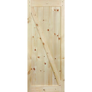Stain Grade Knotty Pine Z-Pattern Barn Door